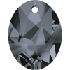 Swarovski Pendant 6911 Kaputt Oval 36mm Silver Night Crystal